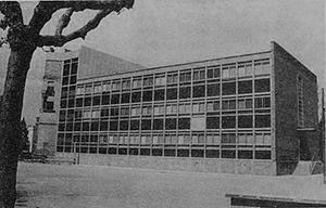 Història de Institut Lluís de Peguera. Edifici
