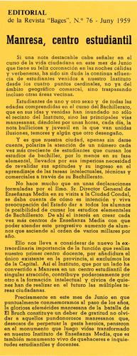 Història de Institut Lluís de Peguera. Diari