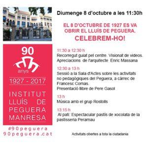 90è Aniversari Lluís de Peguera - 8 octubre de 2017